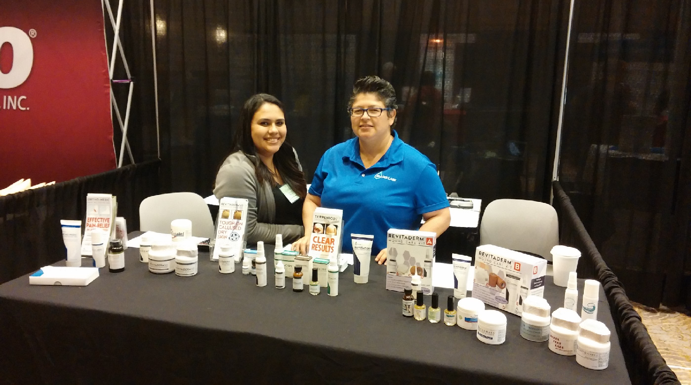 Blaine Labs Booth at the Frisco Podiatry Conference