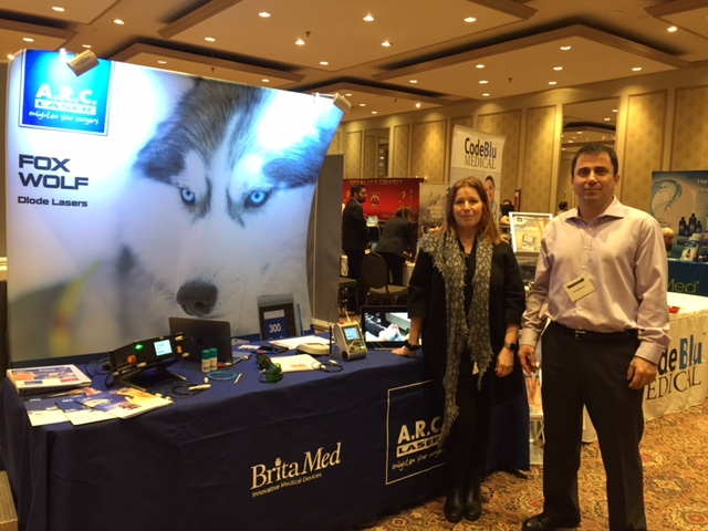 BritaMed's podiatry laser booth at the CPMA conference