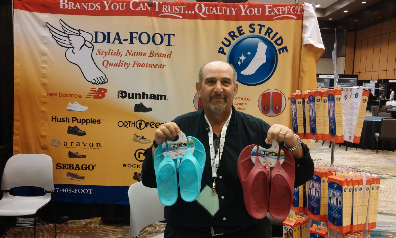 Dia-Foot Booth at the Frisco Podiatry Conference