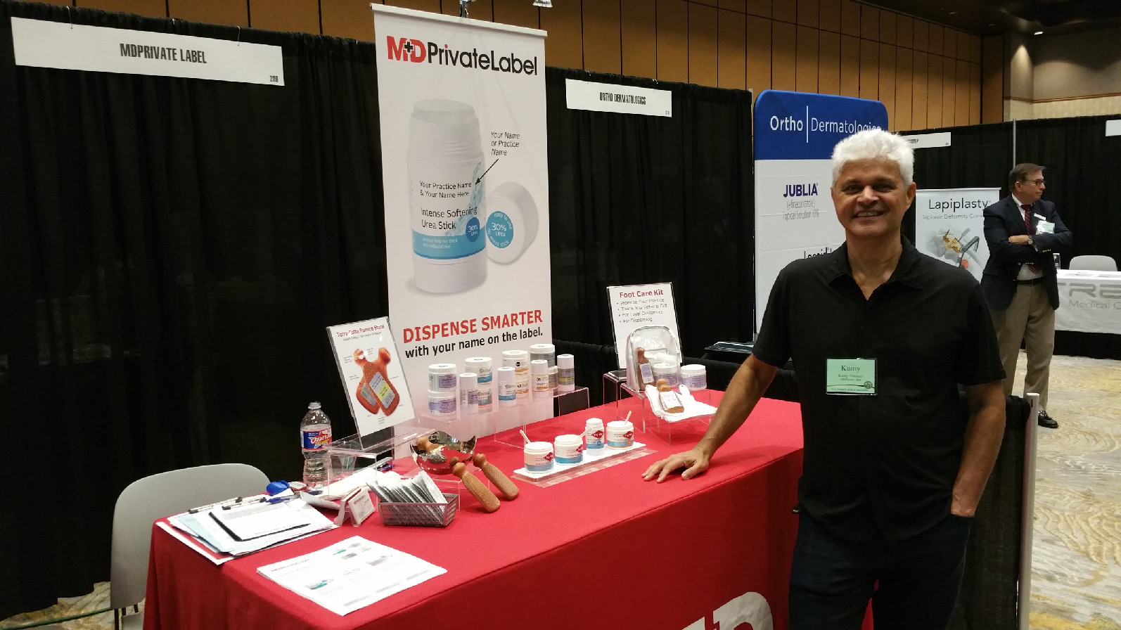 MD Private Label Booth at Frisco Podiatry Conference